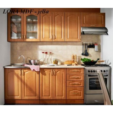 Kuchyňa LORA-MDF, prevedenie: jelša