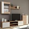Obývačka GENTA, farebné prevedenie: dub sonoma/biela