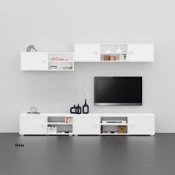 Obývačka REA DENISA UP 2, farba: biela