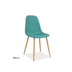 Jedálenská stolička FOX, farba: mätová
