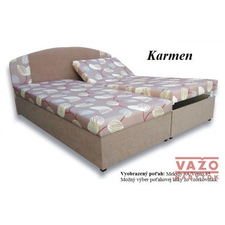 Polohovateľná posteľ KARMEN,poťah: Melody 9/Vento 85