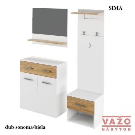Predsieň SIMA, farba: dub sonoma/biela