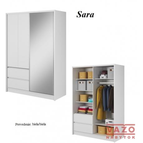Skriňa SARA, farba dreva: biela