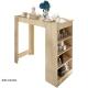 Barový stôl AUSTEN,farba dreva: dub sonoma