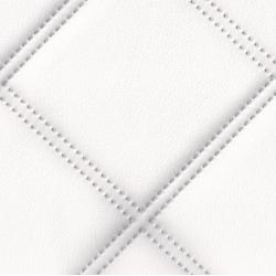 Koženka biela štvorce