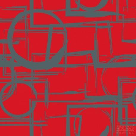 Poťahová látka ADONIS 2022 červeno-sivá