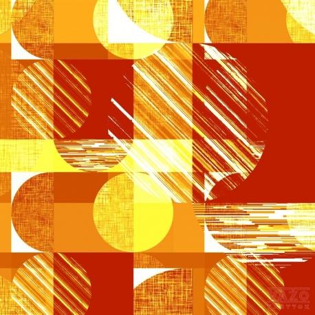 Poťahová látka PACO 2015 červeno-žltá