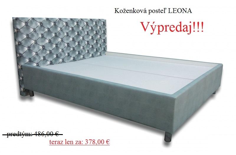 Koženková posteľ  LEONA